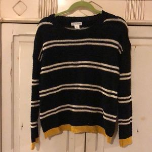 Black Sweater with White Stripes